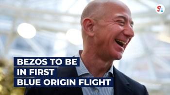 Bezos space next month