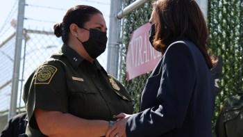 Kamala Harris visits border