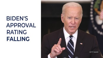 President Biden has seen his approval rating poll numbers drop over the last few weeks.