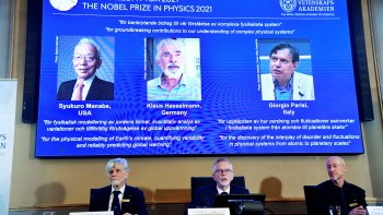 Three people won the Nobel Prize in Physics for their work on climate change.