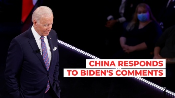 China responded to comments Biden made on Taiwan.
