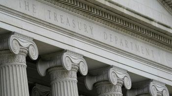The Treasury Department reported progress on managing the deficit.